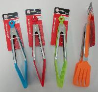 "9"" Spatula Tongs - Assorted colors"